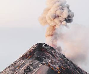 volcano, nature, and smoke image