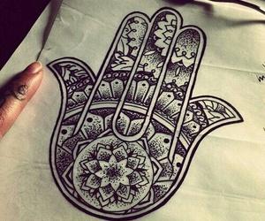 tattoo, hamsa, and art image