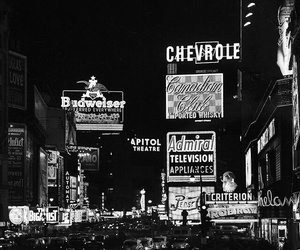 black and white, new york, and times square image