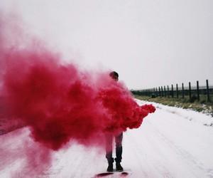 red, smoke, and grunge image