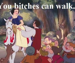 bitch, snow white, and disney image