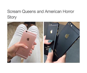 scream queens, black, and american horror story image