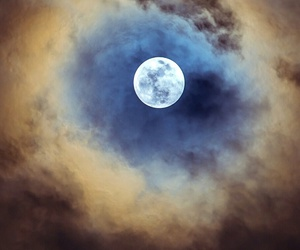moon, nature, and sky image