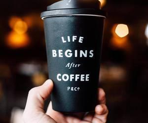 coffee, life, and black image