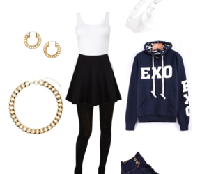 black, exo, and girl image