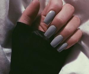 nails, grey, and grunge image