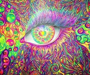 eye, art, and colorful image
