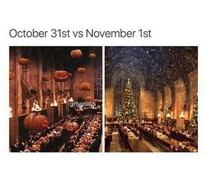 christmas, Halloween, and harry potter image