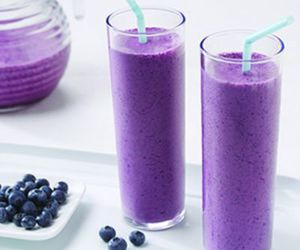 drink, blueberry, and purple image