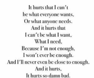 quote, hurt, and poem image