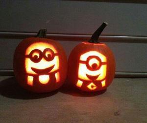 minions and pumpkin image