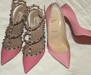 pink, shoes, and Valentino image