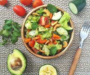avocado, diet, and salad image