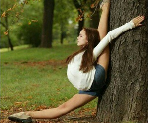 dance, tree, and flexible image