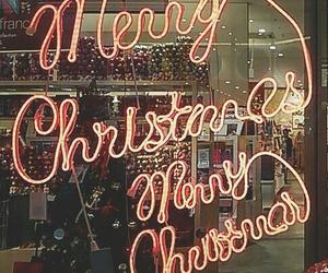 neon, christmas, and x'mas image