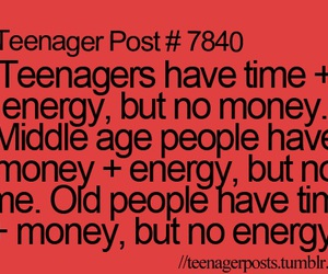teenager and money image