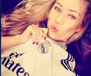 blonde, real madrid, and girl image