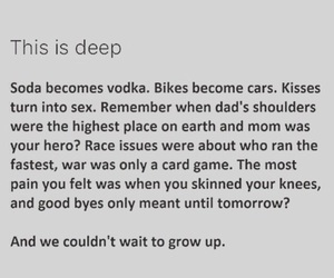 deep, grow up, and quotes image