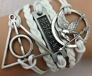 best friends, bracelet, and fashion image