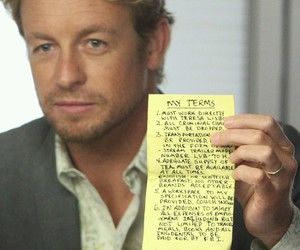 patrick jane, simon baker, and the mentalist image