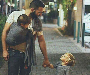baby, father, and children image