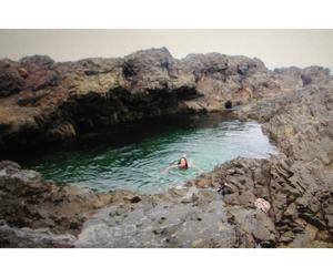 girl, swim, and water image