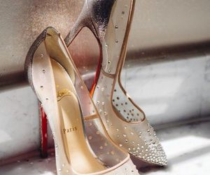 shoes, heels, and christian louboutin image