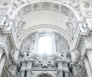white, architecture, and art image