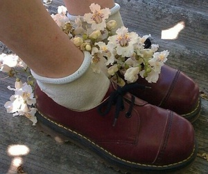 flowers, indie, and shoes image