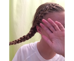 braid, french, and hair image