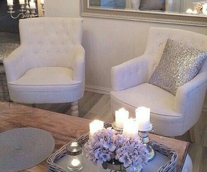 candle, chair, and home image