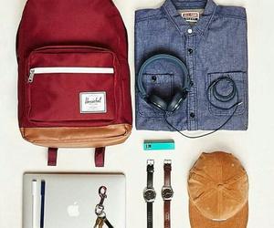 backpack, herschel, and stuff image