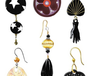 earrings, fashion, and stars image