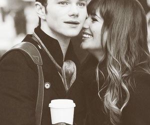 glee, lea michele, and chris colfer image
