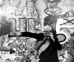 art, berlin wall, and cello image