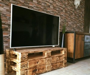 pallet upcycled, tv stand, and pallet recycled image
