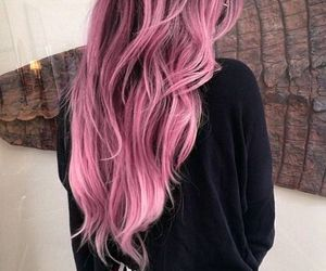 hair, blonde, and pink image