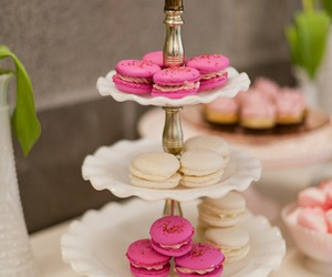 french, pastry, and ‎macarons image