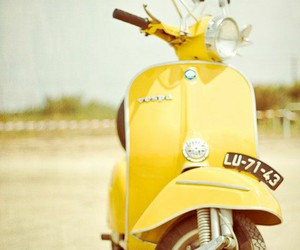 yellow, Vespa, and photography image