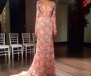 bridal, floral, and gown image