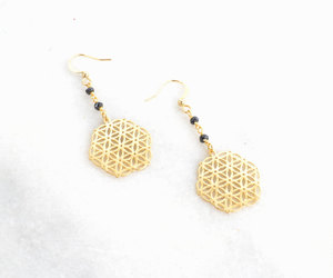 etsy, yoga jewelry, and geometric earrings image