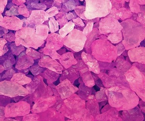 pink, wallpaper, and crystal image