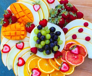 grapes, orange, and fitness image