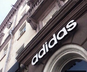 adidas, store, and white image