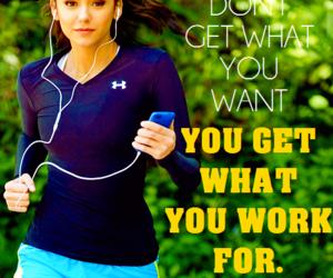 fitness, motivation, and Nina Dobrev image