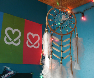 dream catcher, light, and photography image