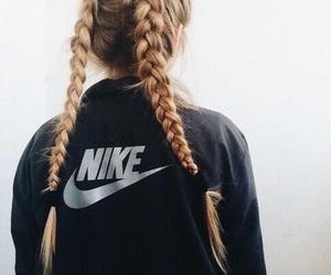 nike, hair, and braid image
