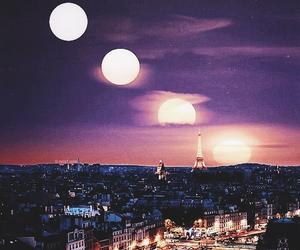 moon, paris, and parís image
