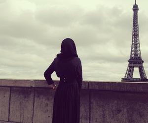 hijab, paris, and girl image