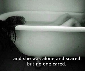 alone, sad, and scared image